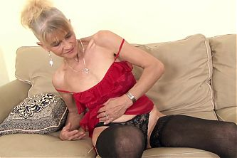 GILF gets anal sex creampie - fucks younger BBC, mature whore