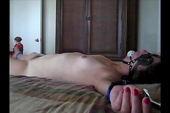 MILF tied spread and helpless